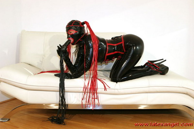 Wearing my favorite colors, black and red rubber